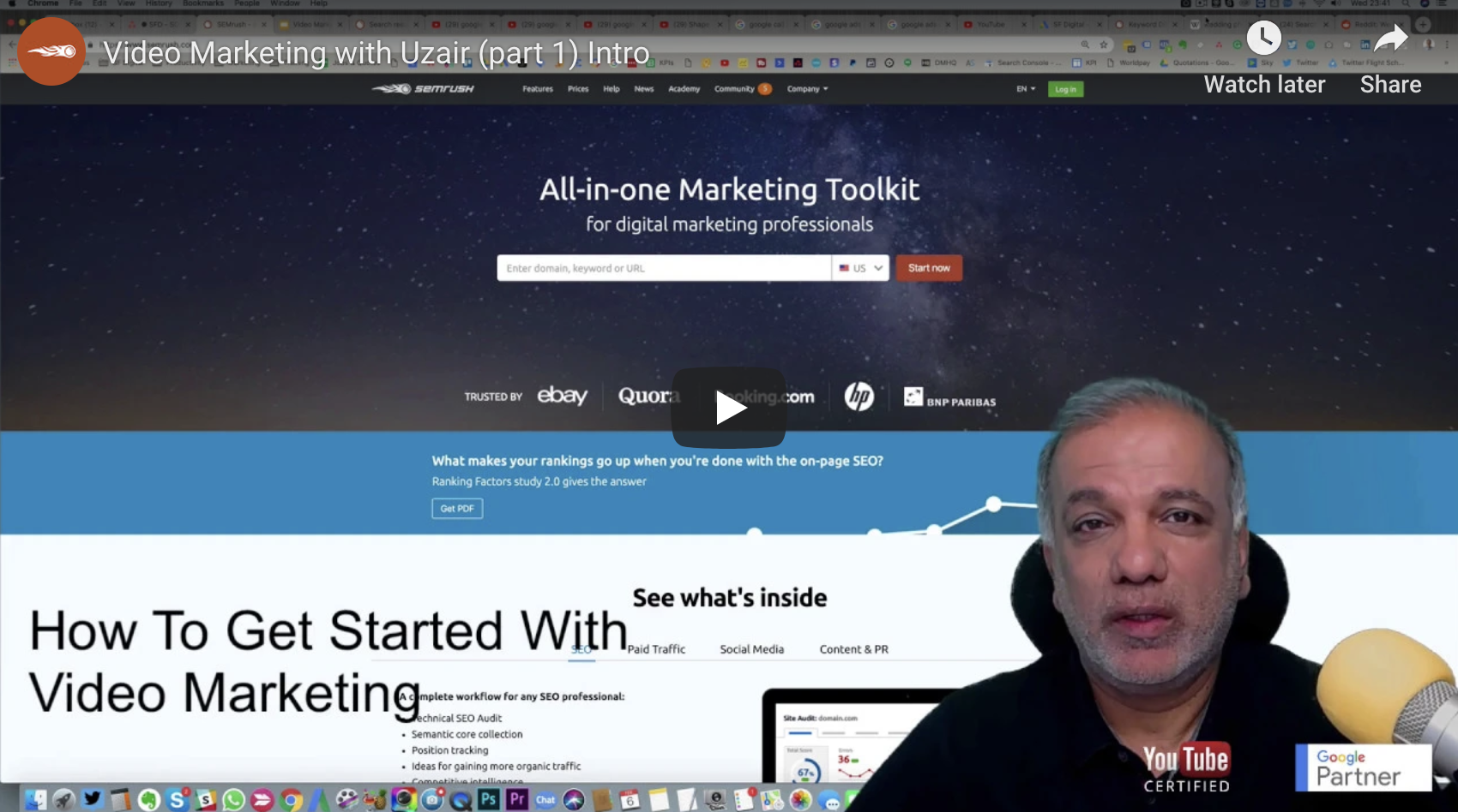 Video Marketing Series With SEMRush