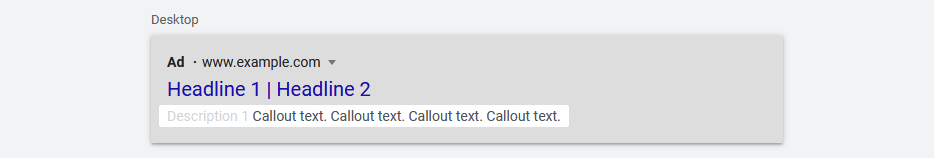 Google Ads Callout Extensions