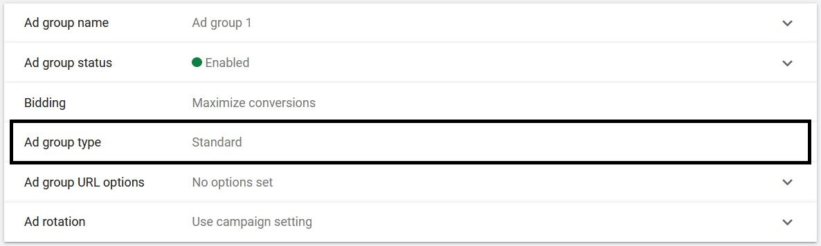 Google Ads Ad Group Types