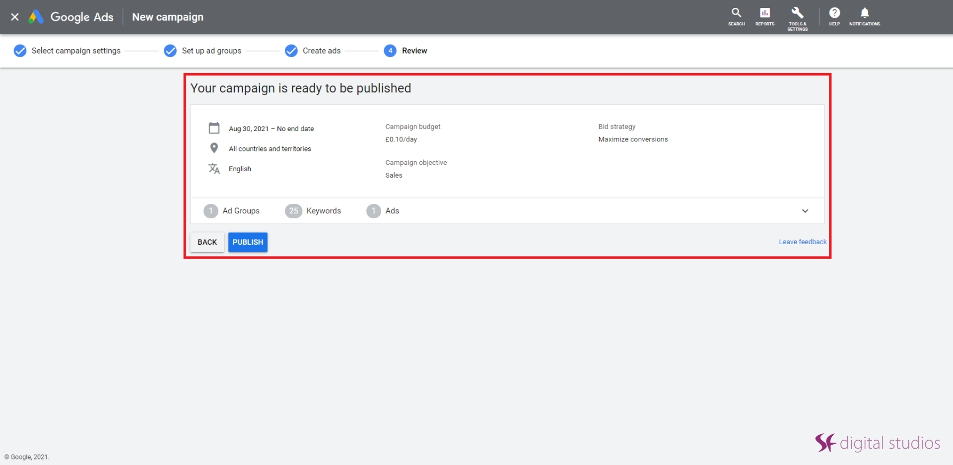 Google Ads Campaign Under Review